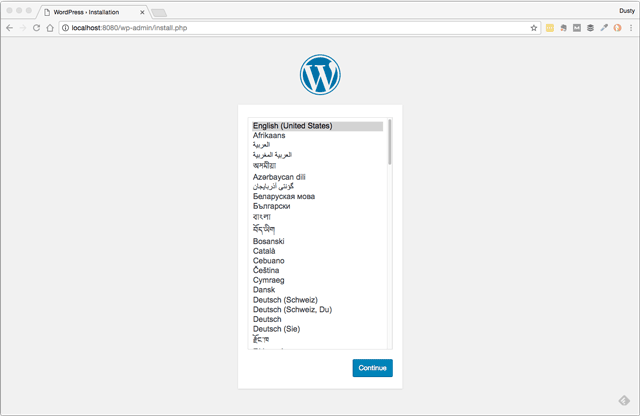 Configuration & setup for new WordPress sites